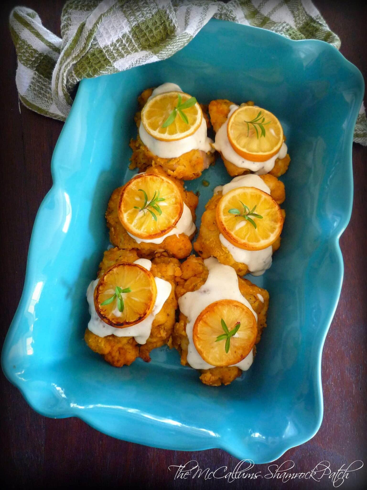 Southern Oven-Fried Lemony Pepper Chicken