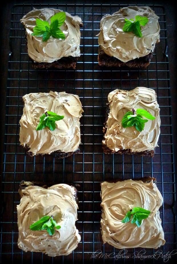 Irish Inspired Black and Tan Brownies