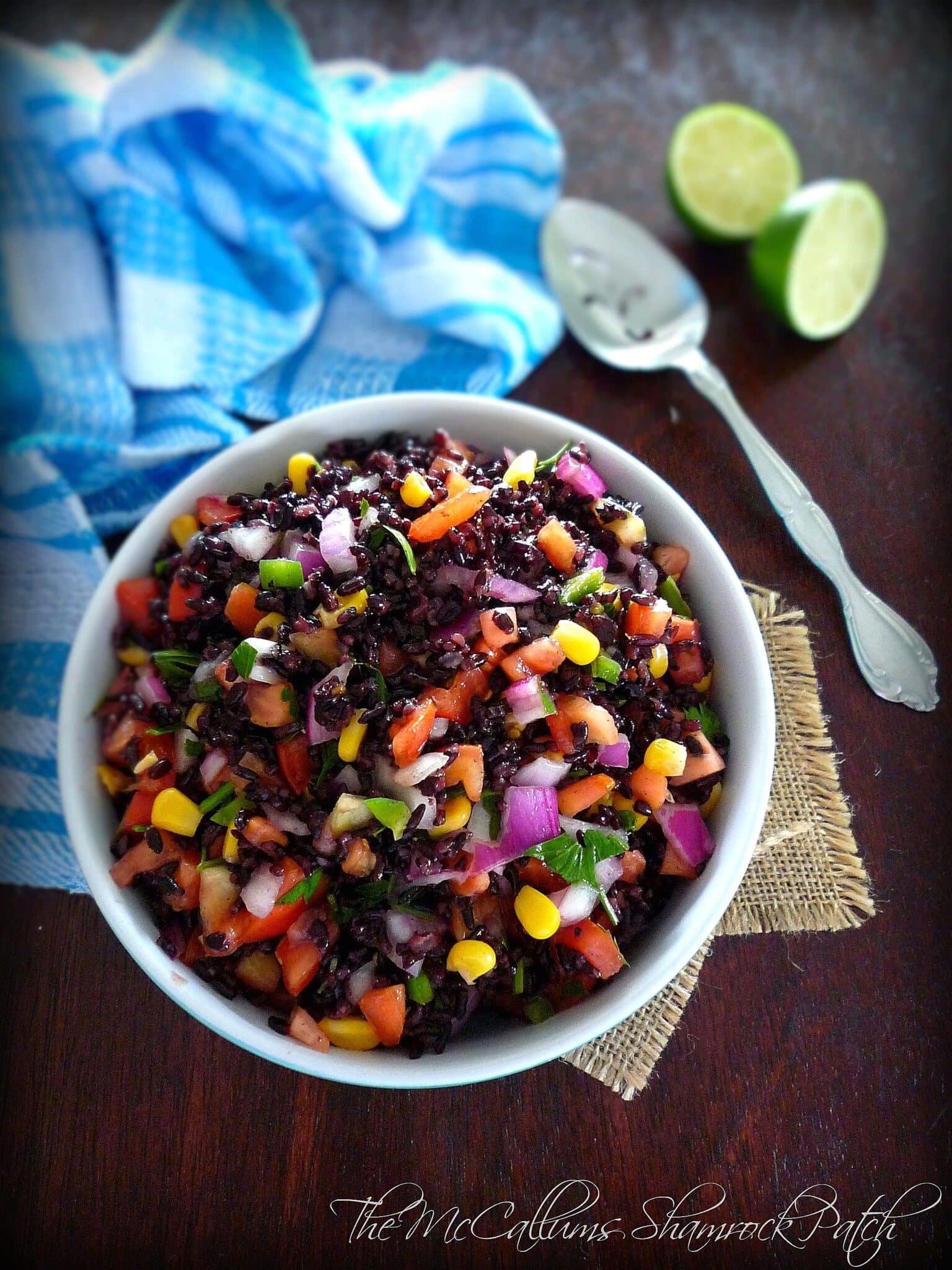 Simple Black Jasmine Rice Salad