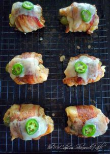 Bacon Wrapped Jalapeno Popper Stuffed Chicken Thighs