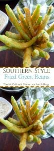 You'll love how simple the crispy and crunchy Southern-Style Fried Green Beans are, made with farm fresh green beans, coated in a Southern-style crispy batter that's been deliciously seasoned with Cayenne Pepper, Paprika, garlic, onion powder, kosher salt, and freshly ground black peppercorns then fried to perfection in peanut oil.