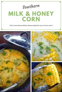 This recipe for Southern Milk and Honey Corn on The Cob will be one of the best corn on the cob recipes you will have ever try this season hands down; made with delicious Florida sweet corn, simmered in whole milk, organic honey, unsalted butter, and seasoned to perfection with Cajun spices, kosher salt, and freshly ground peppercorns. So darn good, you won't even bother with extra butter or salt.