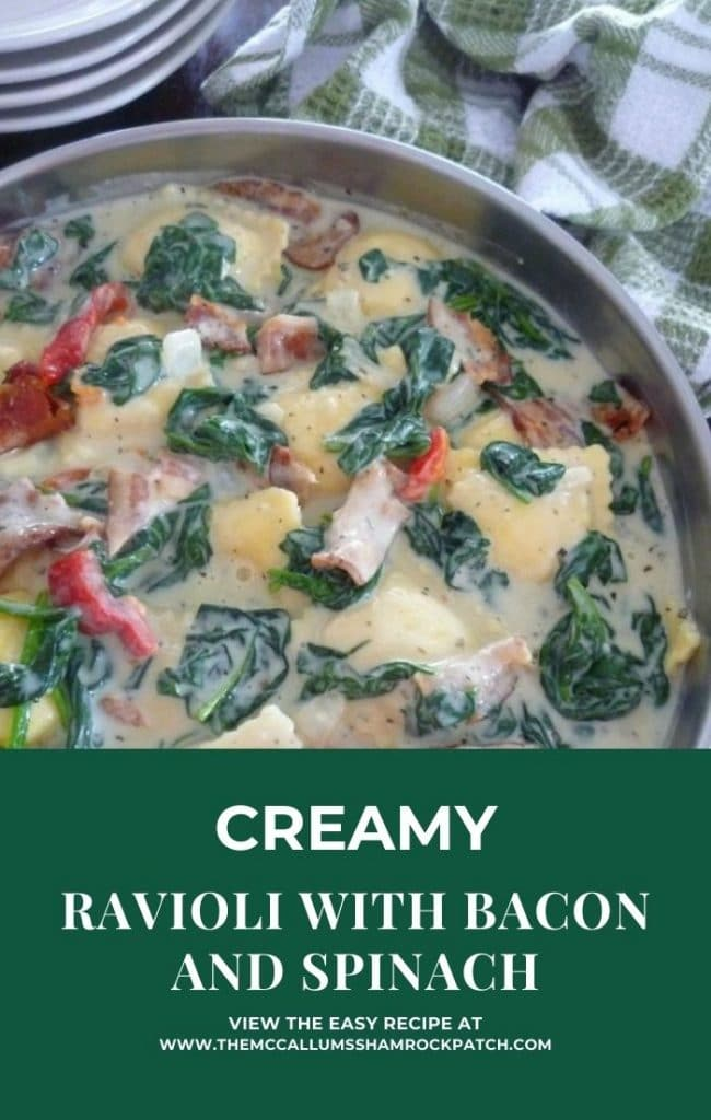 Ravioli with Bacon and Spinach
