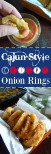 You'll seriously love how easy it is to make these Cajun-Style Crispy Onion Rings. If you enjoy a good ole fashioned homemade crispy fried onion rings and Cajun Spices this is your Onion ring recipe you have waited for. Cajun-Style Crispy Onion Rings are made with Yellow onions, self-rising flour, bread crumbs, Cajun seasoning, oregano, freshly ground black peppercorns, ground cayenne peppers, beer, Tabasco sauce, and fried to perfectly crispy in peanut oil.