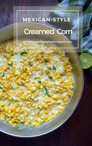 Mexican-Style Creamed Corn is the perfect simple to make, almost foolproof side dish for virtually any meal you enjoy corn with, combining a deliciously sweet, freshly picked, organic corn on the cob, rich, heavy cream, a drizzle of organic honey, sweet unsalted butter, a touch of minced jalapeño peppers, chopped organic cilantro and a hint of freshly squeezed lime juice to bring out the exquisite flavors of the freshly picked sweet corn.
