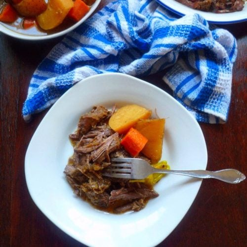 The Mississippi Pot Roast Recipe byRobin Chapman has taken thePinterest nation of pinners hostage and refuses to let go of them anytime soon. I've watched the Mississippi Pot Roast craze for over four-plus years, it's honestly one of the recipes we bloggers watch in awe and wonder how in the Sam hell did that happen?