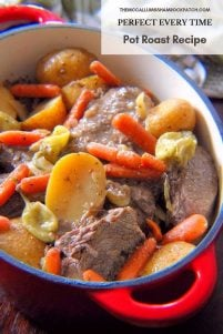In every family, there is a cherished recipe for an American all-time favorite Sundaydinner; that favorite is the Pot Roast, some are tender and juicy if cooked correctly while others may leave something to be desired to be more on the tough or stringyside if cooked too rapidly. You just can't rush a good tender Perfect Every Time Pot Roast Recipe; it takes a little patience on your part.