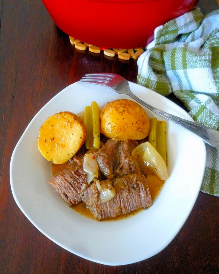 A deliciously tender Perfect Every Time Pot Roast Recipe is hard to come by these days; but I have one to share with you today, made with a quality marbled Chuck roast, tender seasonal root vegetables such as Yukon Gold potatoes, baby carrots, celery, onions, all slowly cooked in a rich broth made from red wine.