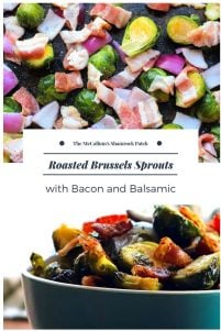 Roasted Brussels Sprouts with Bacon and Balsamic is so simple and delicious it's almost ridiculous. The ingredient list is minimal Brussel sprouts, red onions, smoky bacon, olive oil, honey, and sweet balsamic. You can easily find every item at your local grocer or even your own home in most instances.