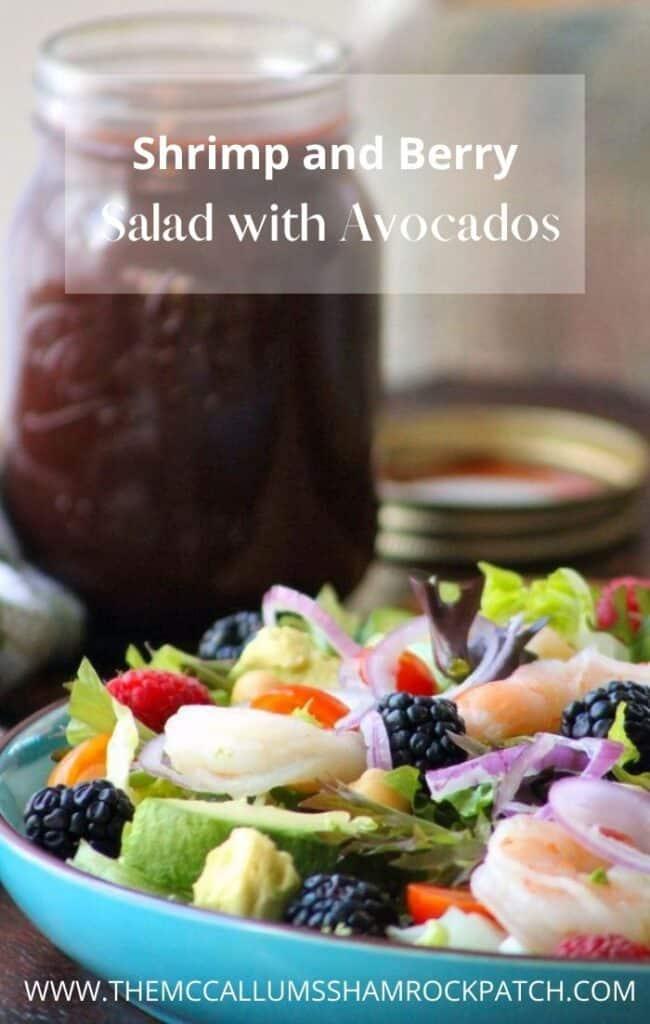 Shrimp and Berry Salad with Avocados