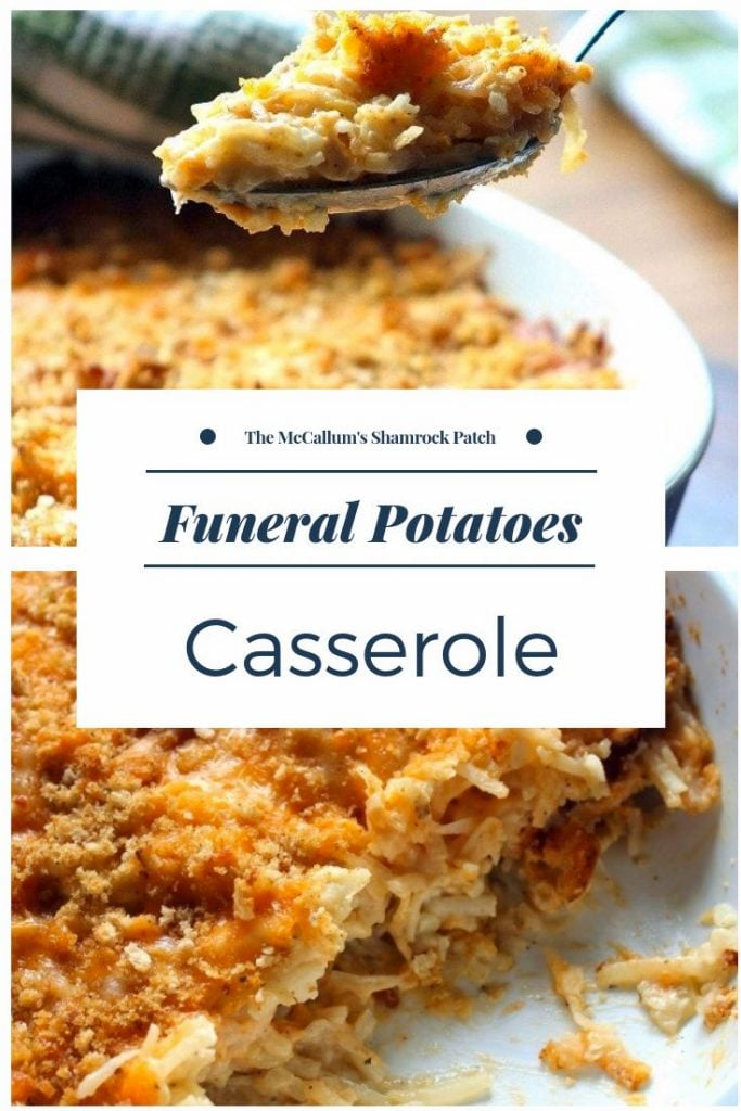 Whether you're hailing from Utah and refer to the recipe as Funeral Potatoes or a Southerner from Mississippi that calls it Hashbrown Casserole, this recipe is pretty darn delicious if you ask me or any of the folks I have made it for. It's really the perfect casserole for the holidays, work potlucks, church functions, any gathering that requires a covered dish.