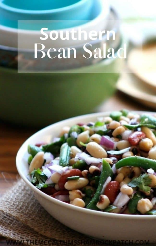 This sweet yet Tangy Southern-Style Bean Salad is the perfect side dish for potlucks, Church gatherings, and family picnics.