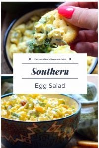 This deliciousSouthern-Style Egg Salad is the perfect lunch idea that will have you wondering why you didn't make more of it for the family to enjoy. Southern-Style Egg Salad is super easy to make combining hardboiled eggs, Duke's mayonnaise, thinly sliced celery, sweet Vidalia onions, green olives, scallions, pimento, and yellow mustard served on rich buttery crackers.