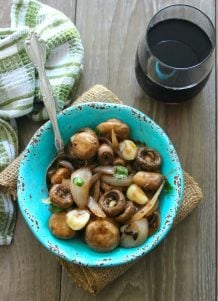 Steakhouse-Style Mushrooms in Wine Sauce is a delicious, simple, easy to make the sidedish that takes very little time to prepare. Made with dry red wine, garlic, unsalted butter, and simply seasoned with kosher salt, freshly ground black pepper, and chopped parsley; Steakhouse-Style Mushrooms in Wine Saucepairs perfectly with your favorite choice cut of steak, chicken, or even pork.