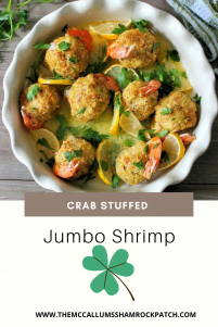 This recipe for Crab Stuffed Jumbo Shrimp Recipe is all about decadent tasting baked jumbo shrimp generously stuffed with a delicious crab filling all sitting pretty in a delicious butter sauce, and everybite is delicious. This appetizer is perfect for a big dinner party or just a romantic dinner for two on date night.