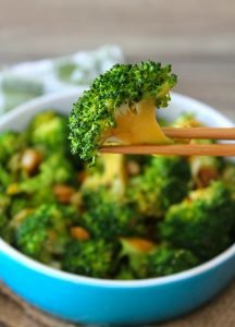 Are you tired of the same old dull and boring broccoli and cheese? Try this Spicy Asian-Style Broccoli version for a change—the ginger, garlic, and crushed red pepper add an excellent kick to the side dish, and it's quick to make.