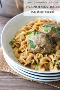 The Best Swedish Meatballs that I have had, are slowly cooked in a Crock-Pot and smothered in the most amazingly delicious rich and creamy gravy you can make.  These Swedish meatballs are so flavorful is almost too good to be true.