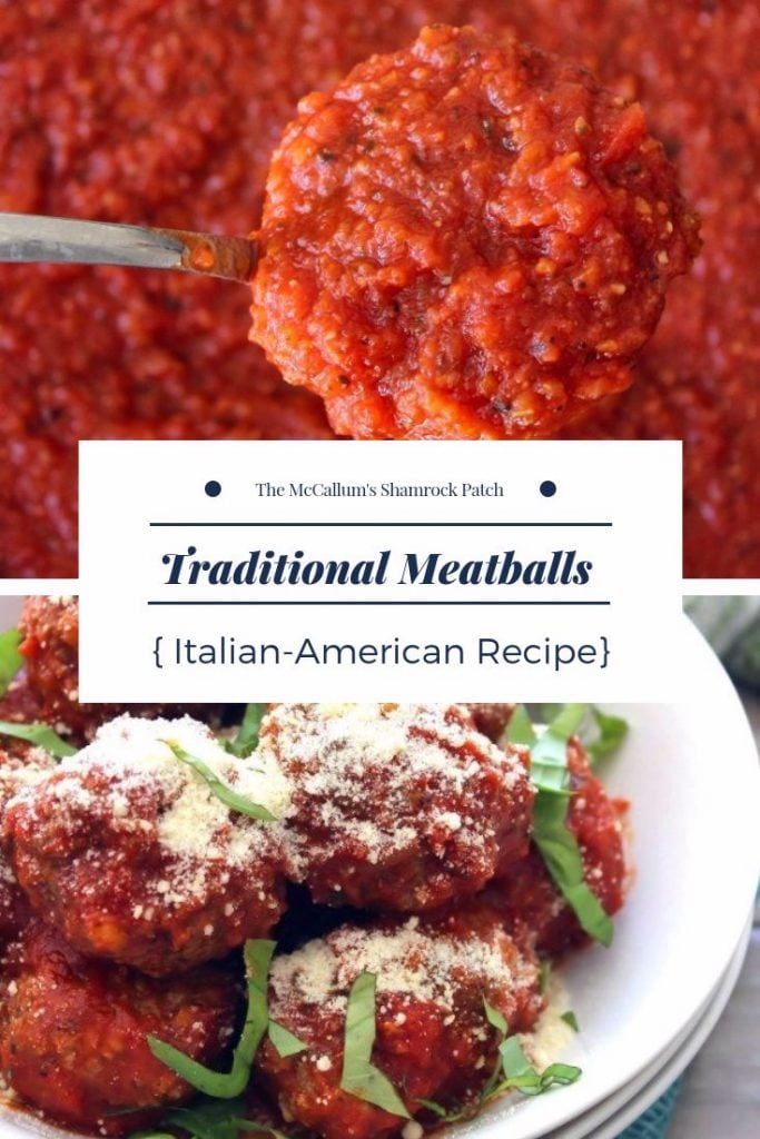 Traditional Meatballs are a deliciously tender and flavorful recipe that will have your meatball fans coming back each time for more. These meatballs are made with love out of lean ground beef, quality ground pork, breadcrumbs,Pecorino Romano cheese, garlic, Fresh Italian herbs, and then lightly fried to perfection in olive oil.