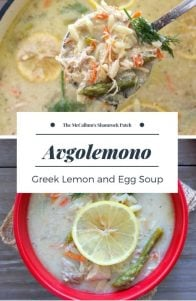 Avgolemono - Greek Lemon and Egg Soup with Orzo is a timeless classic Greek comfort food at it's finest. Its hearty flavors make it the perfect winter meal combining homemade chicken broth, shredded chicken, orzo, carrots, onions, garlic, and fresh asparagus with a thick creamy lemony soup base made from adding eggs and lemon juice to thicken theAvgolemono Soup.