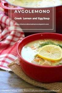 Avgolemono - Greek Lemon and Egg Soup with Orzo is a timeless classic Greek comfort food at it's finest. Its hearty flavors make it the perfect winter meal