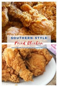 Southern Fried Chicken is a Southern staple on our table all year round, and lovingly served on several occasions; whether it be a family meal, a church potluck, or even a wedding. In other words, we want our deliciously crisp, crunchy, yet super juicy chicken and will look for any reason to make it. Can you blame us?