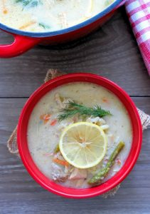 Avgolemono-Greek Lemon and Egg Soup with Orzo