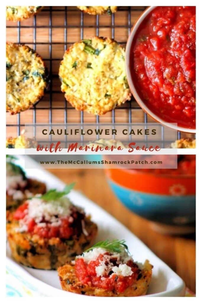 Cauliflower Cakes with Marinara