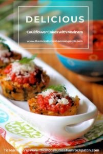 What's not to love about these Crispy Cauliflower Cakes with Marinara Sauce? These amazingly easy to make, husband approved Cauliflower Cakes will be one of those sinfully delicious, flavorful. Yet, almost guilt-free snacks you'll love to eat with your favorite Marinara Sauce.