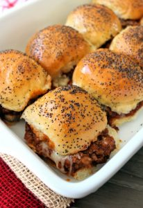 Sloppy Joe Sliders are one of my delicious variations of an iconic childhood favorite turned into a fun slider sandwich that's awesome as a dinner option or even appetizer. You are totally going to love the flavorful homemade Sloppy Joe Sauce that has simple ingredients you probably have in your kitchen now.
