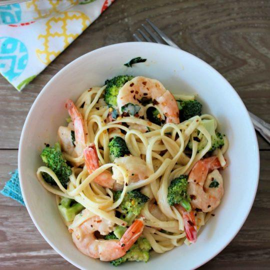 Broccoli Shrimp Alfredo Recipe