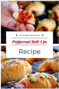 Pepperoni Roll-ups are super simple to make and even better to serve up to your family and friends. You can make them as easy as 1-2-3 for the kids after school as a snack that the entire family will be sure to love time after time. Made with crescent rolls, deli pepperoni, sliced provolone cheese, your favorite pasta sauce and then baked to perfection in a 400 Degree oven.