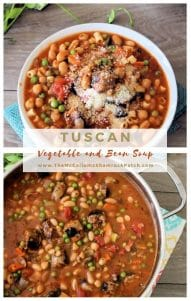 Who doesn't love a hearty bowl of delicious warm soup this time of the year? This recipe is packed with Italian sausage, capicola, cannellini beans, celery, carrots, peas, diced tomatoes, and pasta