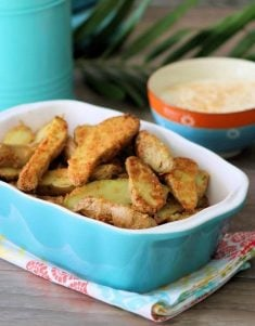 Fabulouslycrisp Air-fryer Parmesan Fingerling Potatoes are a flavorful, healthy, and a delicious way of making one of our families favorite sides. Made with fingerling potatoes, Parmesan cheese, Rosemary, olive oil, garlic, lemon zest, and freshly cracked black pepper.