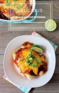Shrimp and Crab Enchiladas are the perfect balance of the fabulous seafood flavors of jumbo shrimp and decadent lump Crab with all the Mexican flavors wrapped in a deliciously Red Enchilada sauce