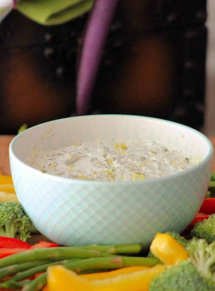 Classic Dill Dip is remarkably simple and a super delicious Dip on veggies, bread, or even chips. You'll love how easy it is to make it in a matter of minutes. Serve it with your favorite organic veggies such as sweet bell peppers, asparagus, tomatoes, broccoli, celery, and even mushrooms for a healthy party starter.
