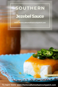Southern Jezebel Sauce will haunt your taste buds with fiery sweetness. It's hot, yet sweet, made with the most beautiful pineapple preserves, apricot preserves, apple jelly, horseradish, prepared mustard with a hint of lemon juice is perfect as a glaze for ham, a grilling sauce, condiment, or served as an appetizer.