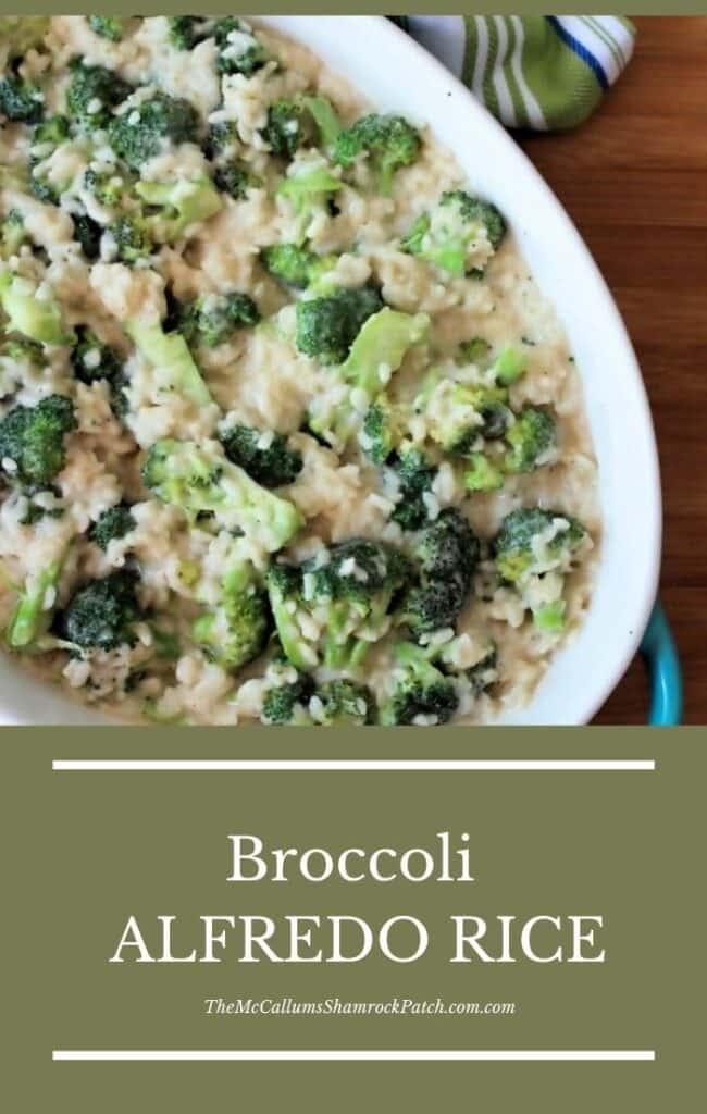 Broccoli Alfredo Rice