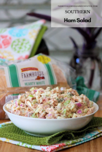 Southern Ham Salad and White Bread go together like two peas and a pod. A delicious homemade Southern Ham salad made with sweet honey ham, celery, red onions, hardboiled boiled eggs, and pickles on a thick-sliced, fresh from the oven tasting white bread we all have come to love in our house.