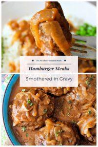 Hamburger Steaks Smothered in Gravy