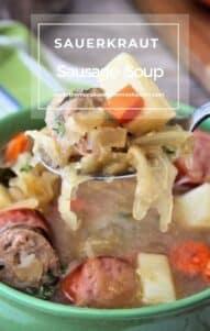 German-Inspired Sauerkraut and sausage soup recipe