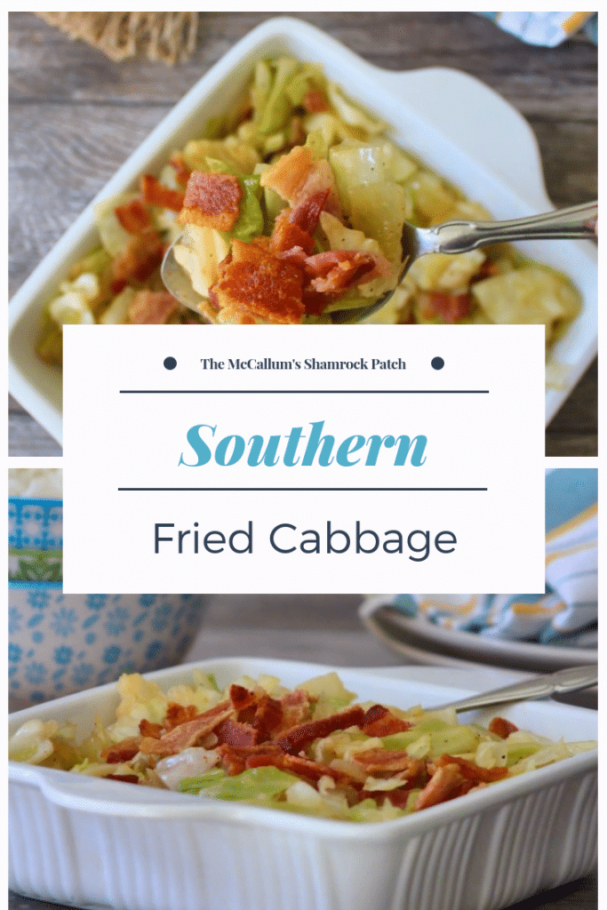 Southern Fried Cabbage is the perfect deliciously flavorful side dish to accompany any Southern-Style meal. Southern Fried Cabbage is super easy to make, using simple ingredients, such as tender cabbage, crisp smoked bacon, onions, and is packed with an incredible flavor from the Cajun spices.