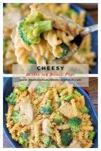 This flavorful, creamy Cheesy Chicken and Broccoli Pasta is a cinch to make, which makes it perfect for busy weeknights. Combining a creamy, tangy cheese sauce with grilled chicken and fresh Broccoli over Rotini Pasta, it's going to be your next go-to meal in the dinner rotation.