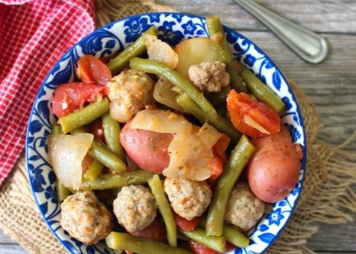 Green Beans Sausage and Potatoes