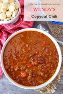 This Wendy's Copycat Chili is one of the best renditions you'll eat to date. It truly satisfies even the biggest Wendy's Chili Fan.