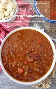 This Wendy's Copycat Chili is one of the best renditions you'll eat to date. It truly satisfies even the biggest Wendy's Chili Fan. Made from lean ground beef, kidney beans, pinto beans, tomatoes, onions, green chilis, and spices.