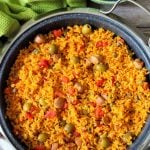 Arroz Con Salchichas aka Rice with Vienna Sausages has for many years been known as comfort food in both Cuban and Puerto Rican households, made distinctly with long grain rice, tomatoes, homemade sofrito, green olives, capers, and Latino spices.