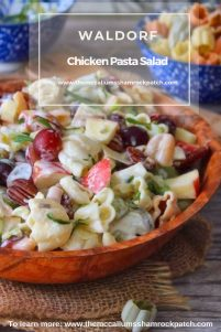 This deliciously savory-and-sweet Waldorf Chicken Pasta Salad is the perfect lunch or light dinner and can be used as a hearty side dish. It is combining the best of three different worlds, Waldorf Salad, Grilled Chicken, and Tricolor Pasta for an amazingly flavorful recipe that's perfect for any gathering.