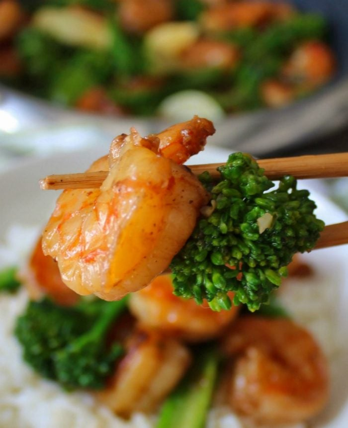 This flavorful Quick and Easy Asian Sweet Chili Shrimp is marinated in a tangy Thai sauce that tastes sweet yet slightly spicy; is perfect for a busy weeknight dinner when you have 30 minutes or less to get your meal from the stove top to the table.