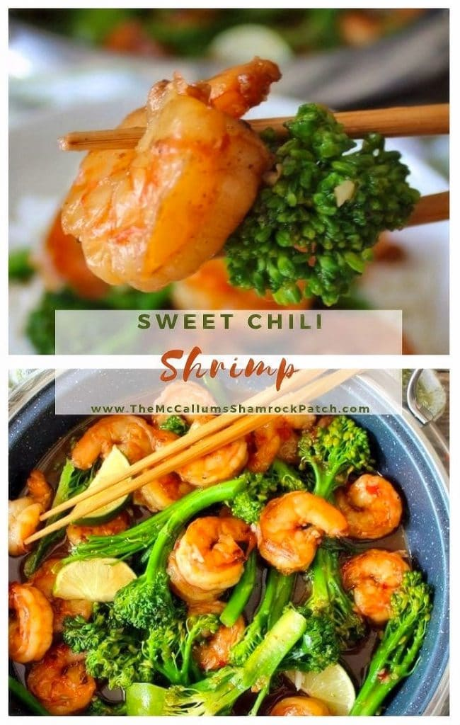 This flavorful Quick and Easy Asian Sweet Chili Shrimp is marinated in a tangy Thai sauce that tastes sweet yet slightly spicy; it is perfect for a busy weeknight dinner when you have 30 minutes or less to get your meal from the stovetop to the table.