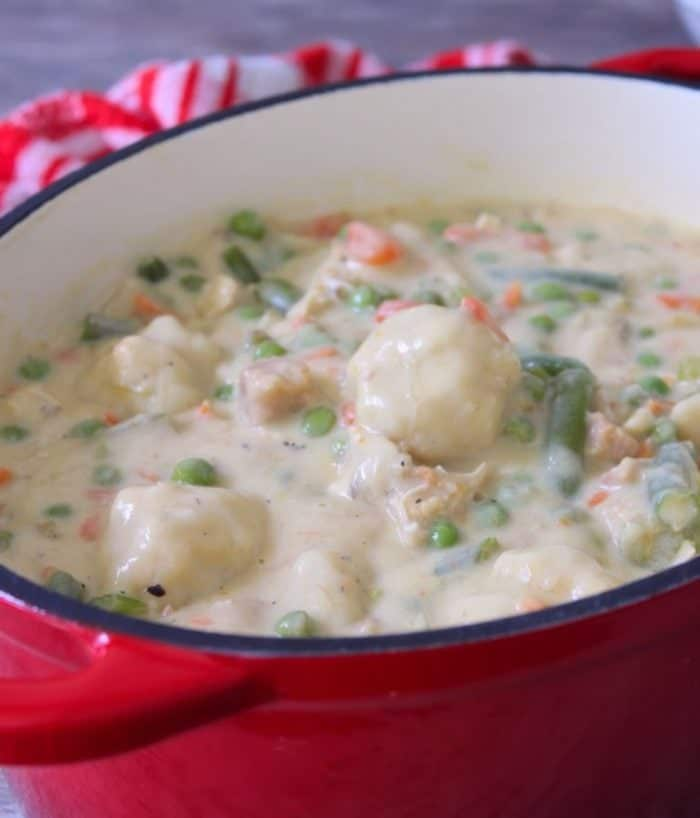 "Southern Style Chicken and Dumplings has a soothing flavor with a delightful texture of stewed chicken, and delicious homemade dumplings in the thickened broth that will capture any Southern Soul the way Scarlett O'Hara would have liked to have won the dashing Rhett in the famous black and white movie ""Gone With the Wind."""